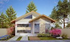 309-plantas-de-casas-fachadas-front1 House Layout Plans, House Layouts, House Plans, Chalet Design, House Design, Cozy Cabin, Architecture Plan, Home Fashion, Exterior Design