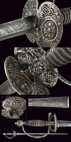A silver hilted small-sword, France, 18th Century . https://darksword-armory.com/