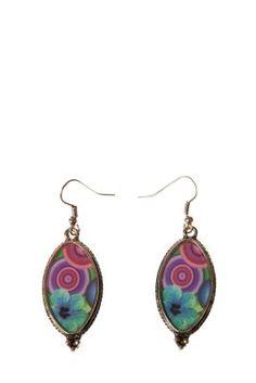 Desigual women's Suitteblan earrings with hook fastening.