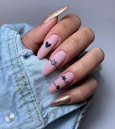 25 Nail Art Ideas and Trends to Try in 2020 | Page 2 of 2 | StayGlam Heart Nail Art, Heart Nails, Minimalist Nails, Nail Art Designs, Summery Nails, Colored Nail Tips, Watermelon Nails, Bridesmaids Nails, Broken Nails