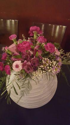Paper Lantern with Flowers Centerpiece