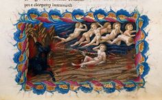 Priamo della Quercia (active 1426-1467). The cardinal sinners being punished in Hell. 14th-Century Illuminations for Dante's Divine Comedy   The Public Domain Review