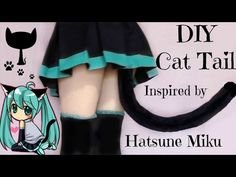 DIY Cat Tail Inspired by Hatsune Miku - YouTube