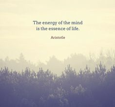 The energy of mind is the essence of life. #Aristotle