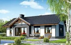 For a typical family, a house with three bedrooms is the ideal home. Here are several small house plans with three bedrooms, with one or two floors. Bungalow Renovation, Bungalow House Plans, Dream House Plans, Small House Plans, Small House Design, Cottage Design, Casa Retro, House Viewing, Cottage Plan
