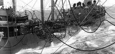 A fleet tanker refueling the ships of the Doolittle Raid, 17 April 1942.
