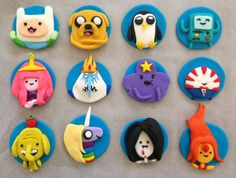 Adventure Time Cupcake Toppers (set of 12)