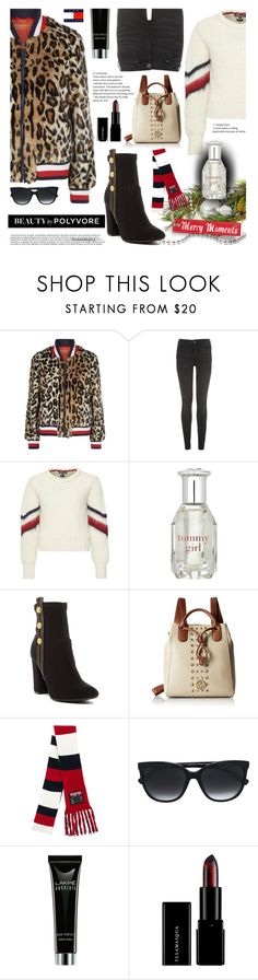 """""""Merry Moments with Hilfiger"""" by crochetragrug ❤ liked on Polyvore featuring Hilfiger Collection, Tommy Hilfiger and Illamasqua"""