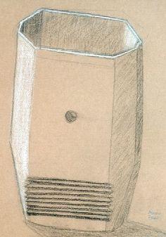 Andreia Brasil. Carvão e pastel branco s/ papel kraft, 42 x 29,7 cm