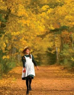 """Fall is beautiful on Prince Edward IslandAndrea Hicks as """"Anne of Green Gables"""" Tourism PEI/John Sylvester Anne Of Windy Poplars, Parks Canada, Canada Eh, Road To Avonlea, Victoria Prince, Anne Shirley, Prince Edward Island, Largest Countries, Anne Of Green Gables"""