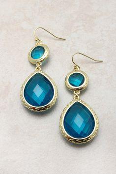 Sapphire Isabella teardrop earrings.