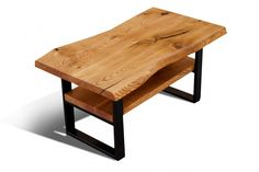 Dębowy stolik kawowy Live Edge Furniture, Outdoor Furniture, Outdoor Decor, Coffe Table, Bench, Loft, Diy, House, Home Decor