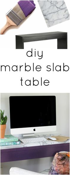 EASY diy marble slab table - Ikea DIY - The best IKEA hacks all in one place Diy Dresser Makeover, Furniture Makeover, Diy Furniture, Furniture Design, Do It Yourself Furniture, Do It Yourself Home, Diy Craft Projects, Home Projects, Diy Crafts
