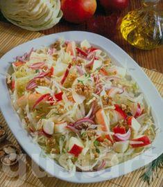 Lajos Mari konyhája - Diós-almás káposztasaláta Cabbage, Curry, Food And Drink, Vegetables, Easter, Dios, Bulgur, Salads, Curries