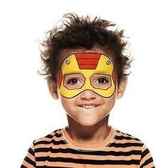 How to face paint a Kid of Steel | Snazaroo.co.uk #howtofacepaint