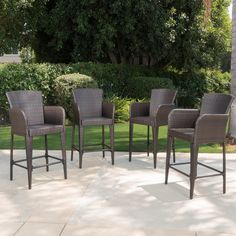 Best Selling Home Cartagena Multibrown Wicker Patio Bar Stool - Set of 4