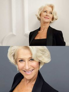 In the campaign, Mirren poses in a black top in all her swoopy-haired glory. She's the latest in a line of sexagenarian women in beauty campaigns in the past year, following Jessica Lange for Marc Jacobs Beauty and Charlotte Rampling for NARS.