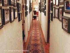 Antique Tabriz Runner Highlights Bedroom Hallway