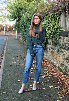 Get this look: http://lb.nu/look/7923008  More looks by Angharad Jones: http://lb.nu/user/1555461-Angharad-J  Items in this look:  Y.A.S Jumper, Weekday Jeans, Topshop Shoes   #simple #minimalist #emerald #croppedjeans #fallfashion #autumnfashion