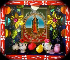 La Virgen de Guadalupe~love the colors