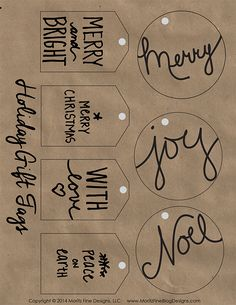 Use these Free Printable Holiday Gift Tags to decorate your Christmas presents and packages this holiday season.