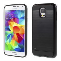 for Galaxy S5 G900 Hybrid Cases Brushed Plastic + TPU Phone Case for Samsung Galaxy S5 G900 / S5 Neo G903F