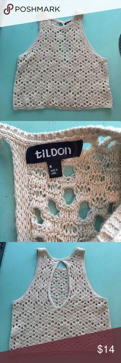 Tildon Crop Top Open weave, Sleeveless crop top Tildon Tops Crop Tops