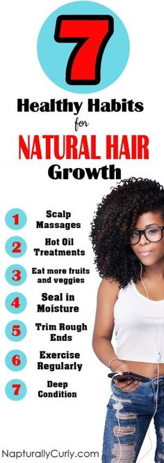 Great habits to grow your natural hair longer. by bernadine