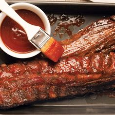 Folks in St. Louis pride themselves on their ribs. You could say it's the city's signature dish. Growing up in the projects like we did, we didn't have a barbecue pit or a smoker, so when we wanted ribs, my mom came up with this way of doing them in the oven. Another way she'd make her ribs was to cut the rack into small slabs of two or three ribs, marinate and season them, and then fry them up—just like you'd do a pork chop. Serve with potato salad or mac and cheese.