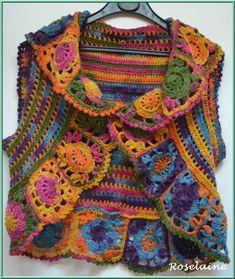 DROPS design, beautiful, colorful bolero