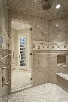 enormous walk-in shower luxury home