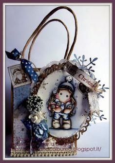 sweet and coloured: Storie di timbri carta e.... Neve Ghiaccio o Notte...