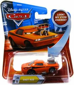 Disney / Pixar CARS Movie 155 Die Cast Car with Lenticular Eyes Series 2 Snot Rod by Mattel. $36.99. Features the Lenticular eyes that move on product. Die Cast Metal Disney Pixar Cars Snot Rod. This is the Snot Rod Lenticular eye car from Disney Pixar Cars movie, CARS! This product is the lenticular eyes character, with eyes that appear to move when you move the car from side to side!