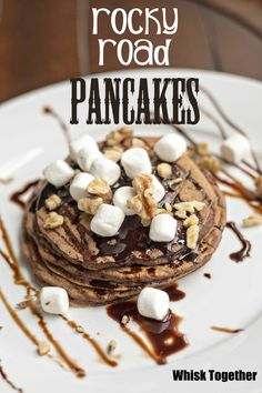 Rocky Road Pancakes on Whisk Together