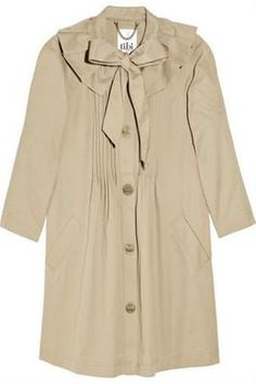Pussybow Trench  Cotton-twill trench coat, TIbi, theoutnet.com.