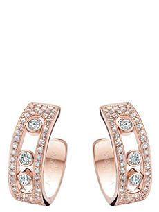 MESSIKA Move Joaillerie 18ct rose-gold and diamond hoop earrings