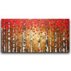 Original pintura al óleo paisaje arte abstracto por ModernHouseArt