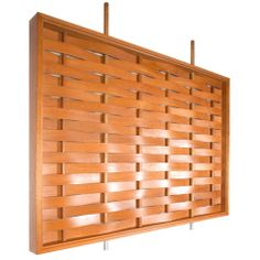 Monumental Woven Wood Room Divider