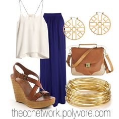 """Maxi Skirt Outfit 03"" by theccnetwork on Polyvore"