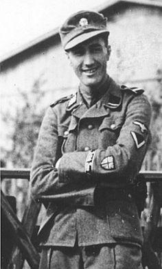 British Waffen-SS Volunteer SS-Sturmmann Alfred Minchen of the Britisches Freikorps (BFC).