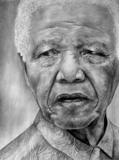 Pencil art of Mandela