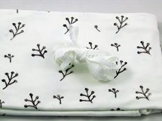 Kit Culotte à coudre Blanc à fleurs violettes /// Knickers-Panties Sewing Kit White with Purple Flowers by monbouton on Etsy