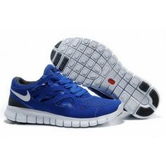 Mens Nike Free Run 2 Shoes Saphire White