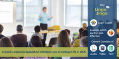 New to the US and looking forward to college life in #America? It is indeed full of adventure! Here's a quick lesson to introduce you to #collegelife in the #USA!  Start here: http://lingojingo.com/Course/On-boarding-for-Bentley-College/413/0