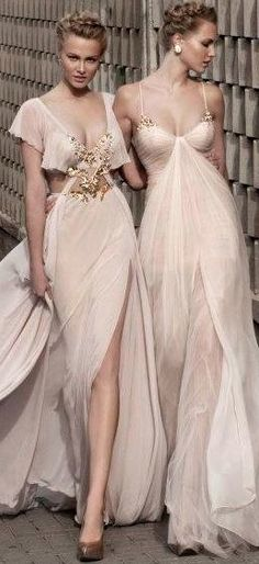 ✤ Pale gowns / Maid of honor and Bridesmaid gowns / Wedding On Pico Blvd.