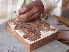Indian block printing - carving