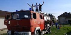 Tűzoltóautós születésnap Trucks, Vehicles, Truck, Car, Vehicle, Tools