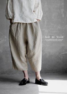 【楽天市場】【送料無料】Joie de Vivreフレンチリネンワッシャー バルーンパンツ:BerryStyleベリースタイル Fashion Week 2018, Lakme Fashion Week, Spring Fashion Trends, Simple Outfits, Casual Outfits, Parisian Chic Style, Fairy Clothes, Androgynous Fashion, Japanese Outfits
