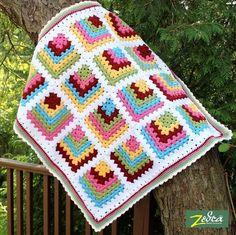 Baby Blanket Granny Square Crochet Pattern