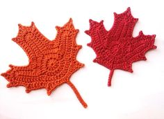 The Unknown Orchard: Crochet Sugar Maple Leaves, free pattern, pdf saved